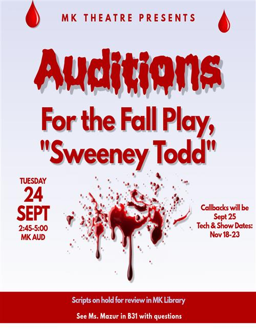 Fall drama auditions